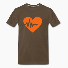 Chocolat Heartbeat (1c, Hearts) T-shirts (manches courtes)