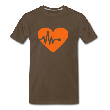 Chocolate Heartbeat (1c, Hearts) T-Shirts