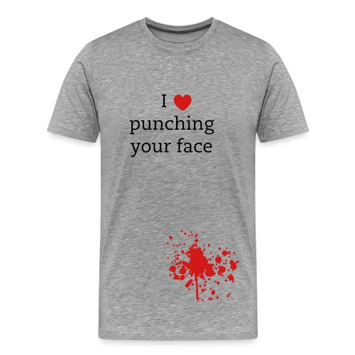 'I [heart] punching your face' Tee - Men's Premium T-Shirt