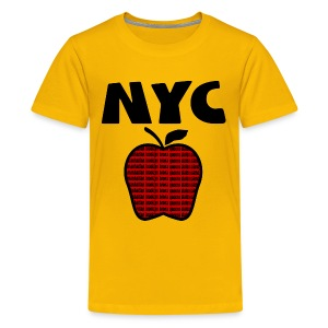 KKT 'NYC, Big Apple With Boroughs, DIGITAL DIRECT' Kids' Tee, Yellow - Kids' Premium T-Shirt