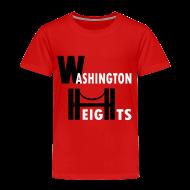 Baby & Toddler Shirts ~ Toddler Premium T-Shirt ~ KKT 'Washington Heights With Bridge' Toddler Tee, Red