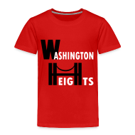 Baby & Toddler Shirts ~ Toddler Premium T-Shirt ~ KKT 'Washington Heights With Bridge' Toddler Tee, Red