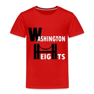 KKT 'Washington Heights With Bridge' Toddler Tee, Red - Toddler Premium T-Shirt