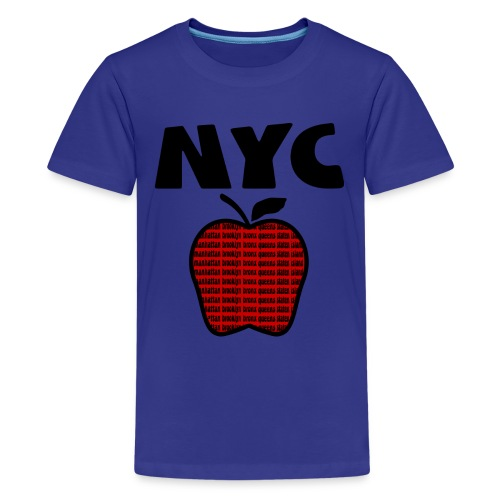 KKT 'NYC, Big Apple With Boroughs, DIGITAL DIRECT' Kids' Tee, Turquoise - Kids' Premium T-Shirt
