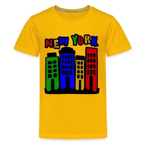 KKT 'New York Multi-Color, 4 Brownstones' Kids' Tee - Kids' Premium T-Shirt