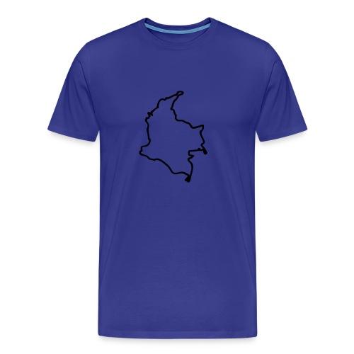 Colombia Map - Men's Premium T-Shirt