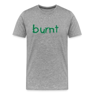 burnt t-shirt gray/green - Men's Premium T-Shirt
