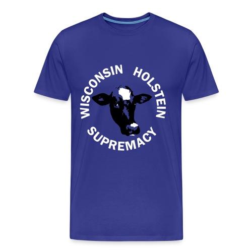 Wisconsin Holstein Supremacy - Men's Blue - Men's Premium T-Shirt