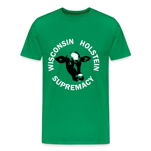Wisconsin Holstein Supremacy - Men's Light Green - Men's Premium T-Shirt