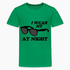 Kelly green Wear Sunglasses Night Kids' Shirts