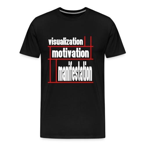WUBT 'Visualization, Motivation, Manifestion Grid' Men's HW Tee, Black - Men's Premium T-Shirt
