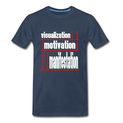 WUBT 'Visualization, Motivation, Manifestion Grid' Men's HW Tee, Navy - Men's Premium T-Shirt