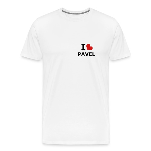 I Heart Pavel (White) - Men's Premium T-Shirt