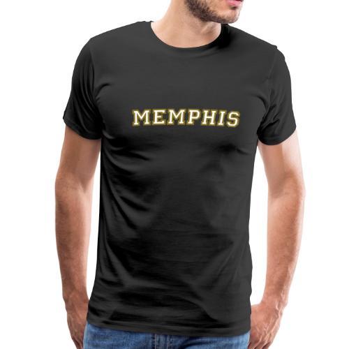 Memphis College White/Gold T-Shirt - Men's Premium T-Shirt