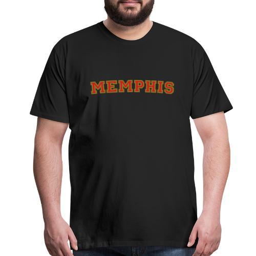 Memphis College Red/Gold T-Shirt - Men's Premium T-Shirt