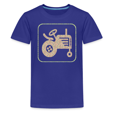 Royal blue A TRACTOR Kids' Shirts