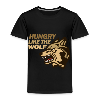 Black Hungry Wolf Duran Toddler Shirts