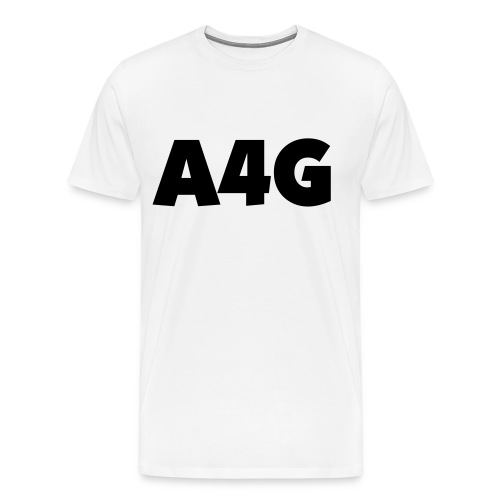 A4G Black Simple Shirt - Men's Premium T-Shirt