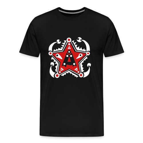 Name - Initials A - Type - Letter - Birthday - Gift - Star - Unique - Design - Fashion - Men's Premium T-Shirt