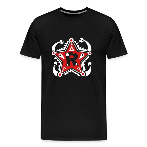 Name - Initials R - Type - Letter - Birthday - Gift - Star - Unique - Design - Fashion - Men's Premium T-Shirt