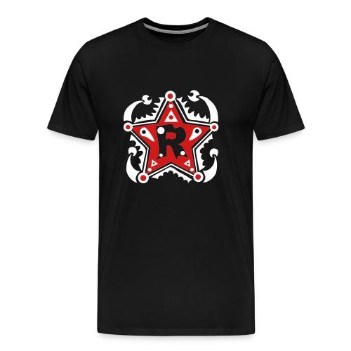 Name - Initials R - Type - Letter - Birthday - Gift - Star - Unique - Design - Fashion - Men's Premium T-Shirt