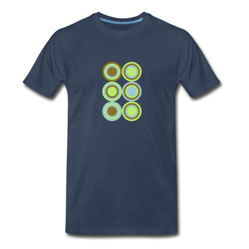 Men's Concentric Circles Shirt - Men's Premium T-Shirt