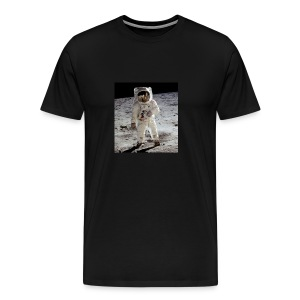 Astronaut on moon - Men's Premium T-Shirt