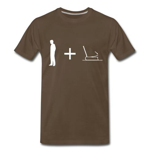 Man + Page 3XL (on Dark Choice) - Men's Premium T-Shirt
