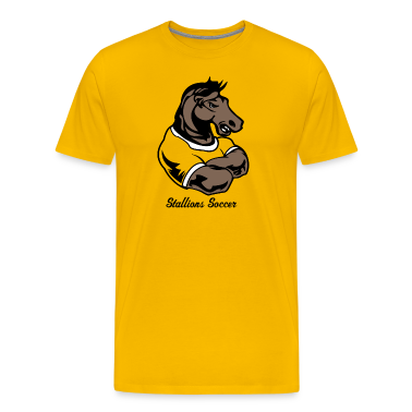 Yellow Custom Mustang or stallion mascots T-Shirts