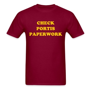 Check Portis Paperwork - Men's T-Shirt