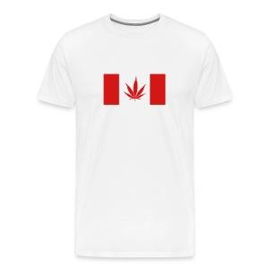 Canadian Weed Flag - Men's Premium T-Shirt