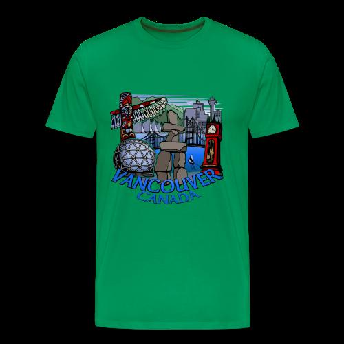 Vancouver T-shirt Men's Vancouver Canada Shirt - Men's Premium T-Shirt