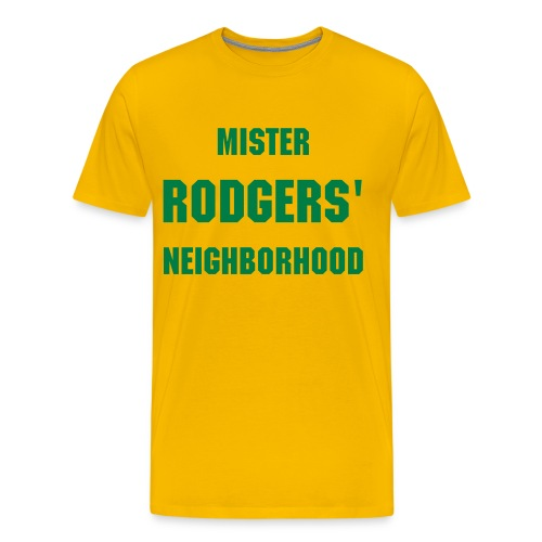 Mr. Rodgers Neighborhood (Gold) - Men's Premium T-Shirt