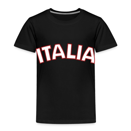 Toddler Italia, Black - Toddler Premium T-Shirt