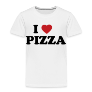 Baby & Toddler Shirts ~ Toddler Premium T-Shirt ~ Toddler I Love Pizza, White