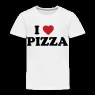 Baby & Toddler Shirts ~ Toddler Premium T-Shirt ~ Toddler I Love Pizza, White