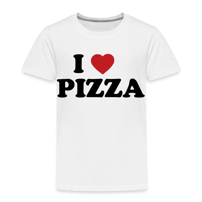Toddler I Love Pizza, White