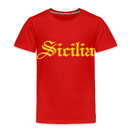 Baby & Toddler Shirts ~ Toddler Premium T-Shirt ~ Toddler Sicilia Gothic, Red