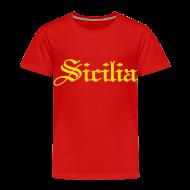 Baby & Toddler Shirts ~ Toddler Premium T-Shirt ~ Toddler Sicilia Gothic, Red