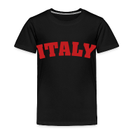 Baby & Toddler Shirts ~ Toddler Premium T-Shirt ~ Toddler Italy, Red on Black