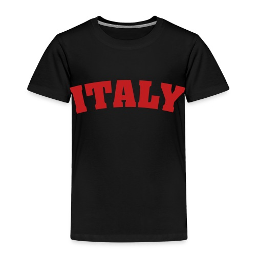 Toddler Italy, Red on Black - Toddler Premium T-Shirt