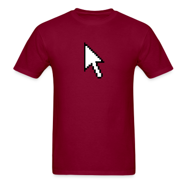 Burgundy pc computer pointer arrow intel IBM T-Shirts