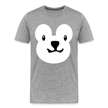 Heather grey teddy bear face alone with really cute nose T-Shirts