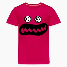 Hot pink ugly monster Kids' Shirts