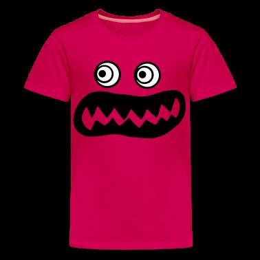 Hot pink ugly monster Kids' Shirts