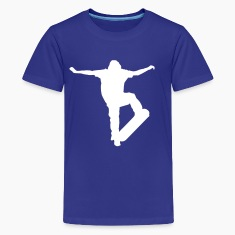 Royal blue Skater Kickflip - Skateboard - Skating - Skateboarding Kids' Shirts