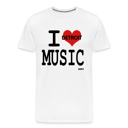 LUV DETROIT MUSIC T - Men's Premium T-Shirt