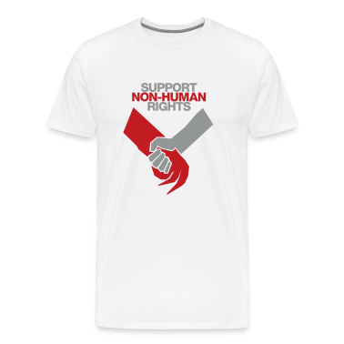White Support Non-Human Rights T-Shirts