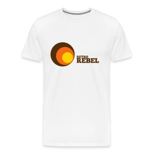 retro rebel shirt white (real retro colors) - Men's Premium T-Shirt