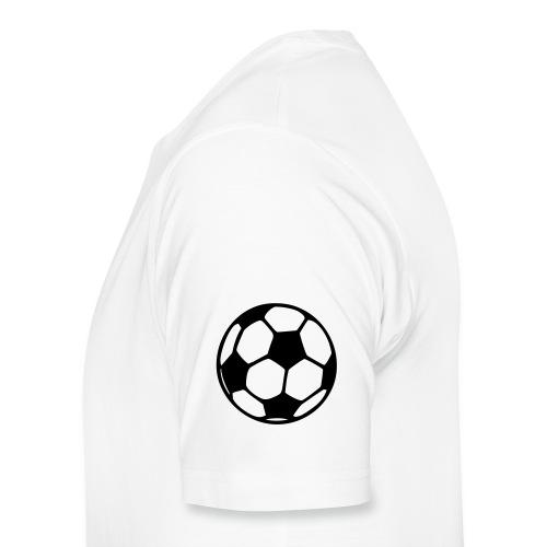 Men's Macho White Football Lover T-Shirt - Men's Premium T-Shirt